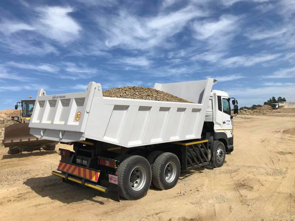 UD Quester CWE330 Tipper delivered to Otto Sands in George